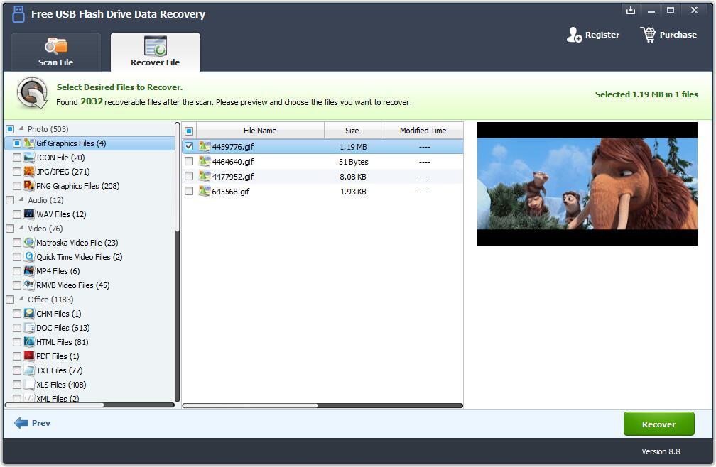 Windows 7 Free USB Flash Drive Data Recovery 8.8 full